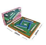 Oubaiyi Mini Mahjong con Mesa Juego de Mahjong Chino Tradicional para Hogar o Viaje Juego de Mahjong Juego Familiar Juego de Amigos Juego de Mesa Juego de Mesa