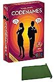 Juego de Mesa con Nombres de código de acción confidencial/Nombres de código, Tarjeta de Fiesta Familiar y Amigo, Suministros de Juego edición Inglesa, Paquete con Bolsa de cordón de Chessex