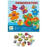 Djeco- Juegos de acción y reflejosJuegos educativosDJECOJuego Little Observation, Multicolor (15)