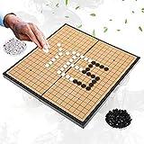 Dioche Juego de Mesa Go, Juego de Juego para 2 Jugadores Tablero Plegable Magnético Weiqi Educational Games para Niños Adultos