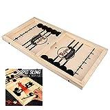 ZN Table Desktop Battle 2 IN 1 Ice Hockey Game, Jugar como Renju, Fast Sling Puck Game Paced SlingPuck Winner Board Game Toys Juego Adult Child