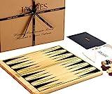 Tablero de Backgammon - Juego de Backgammon de Madera Piezas para Jugar - Jaques de Londres - Desde 1795