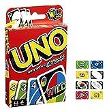 Bulex Mattel UNO: Juego de cartas clásico UNO, divertido juego de cartas