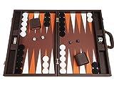 Silverman & Co. Juego de Backgammon Premium de 48 x 64 cm - Marrón Oscuro