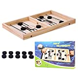 Bouncing Chess Hockey Game, 2 Players Table Desktop Battle Toy Funny Ice Hockey Game Gift, Mejorar La Relación Entre Padres E Hijos