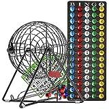 Completo deluxe pequeño Bingo con revestimiento de plástico parte Set w/no-glare, Fade y resistencia a los arañazos nueva tecnología patentada 7/8'bolas de Bingo de lectura fácil, 11cm de alto por Mr. Chips, Inc