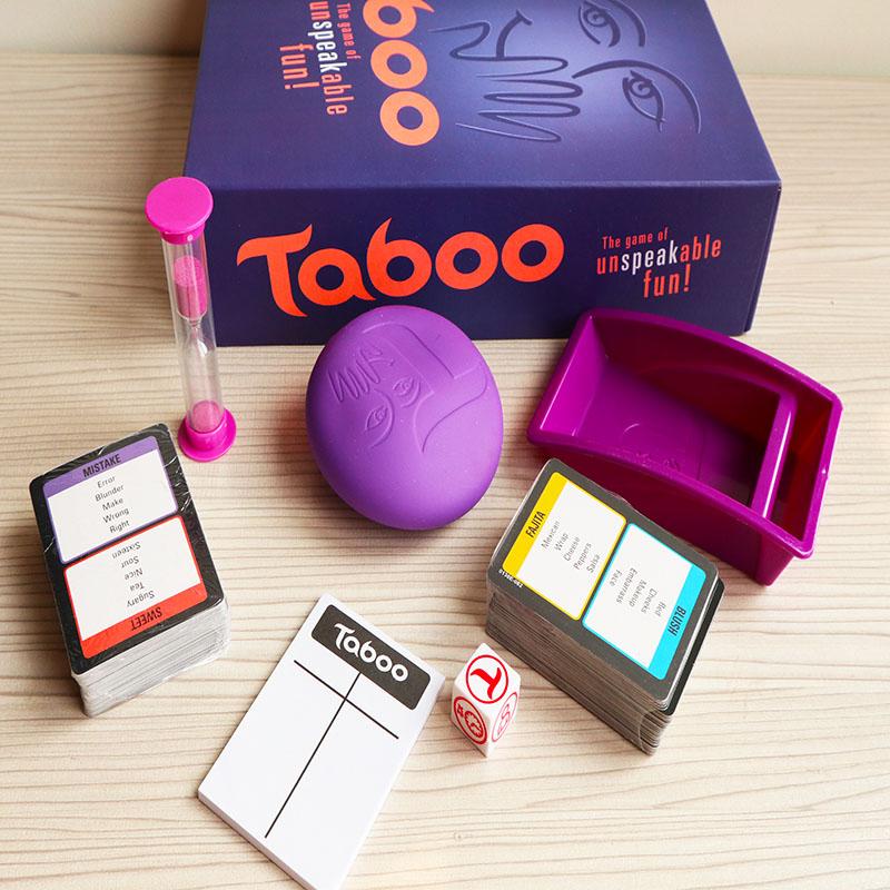 juego de mesa clásico tabu dados y cartas