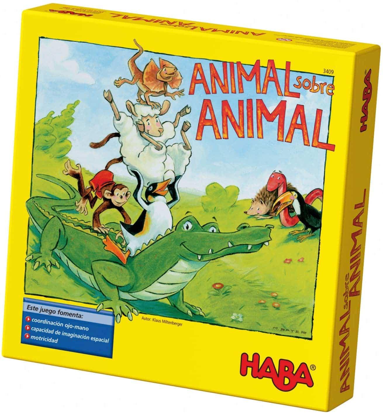Juego de mesa para apilar objetos Animal sobre Animal