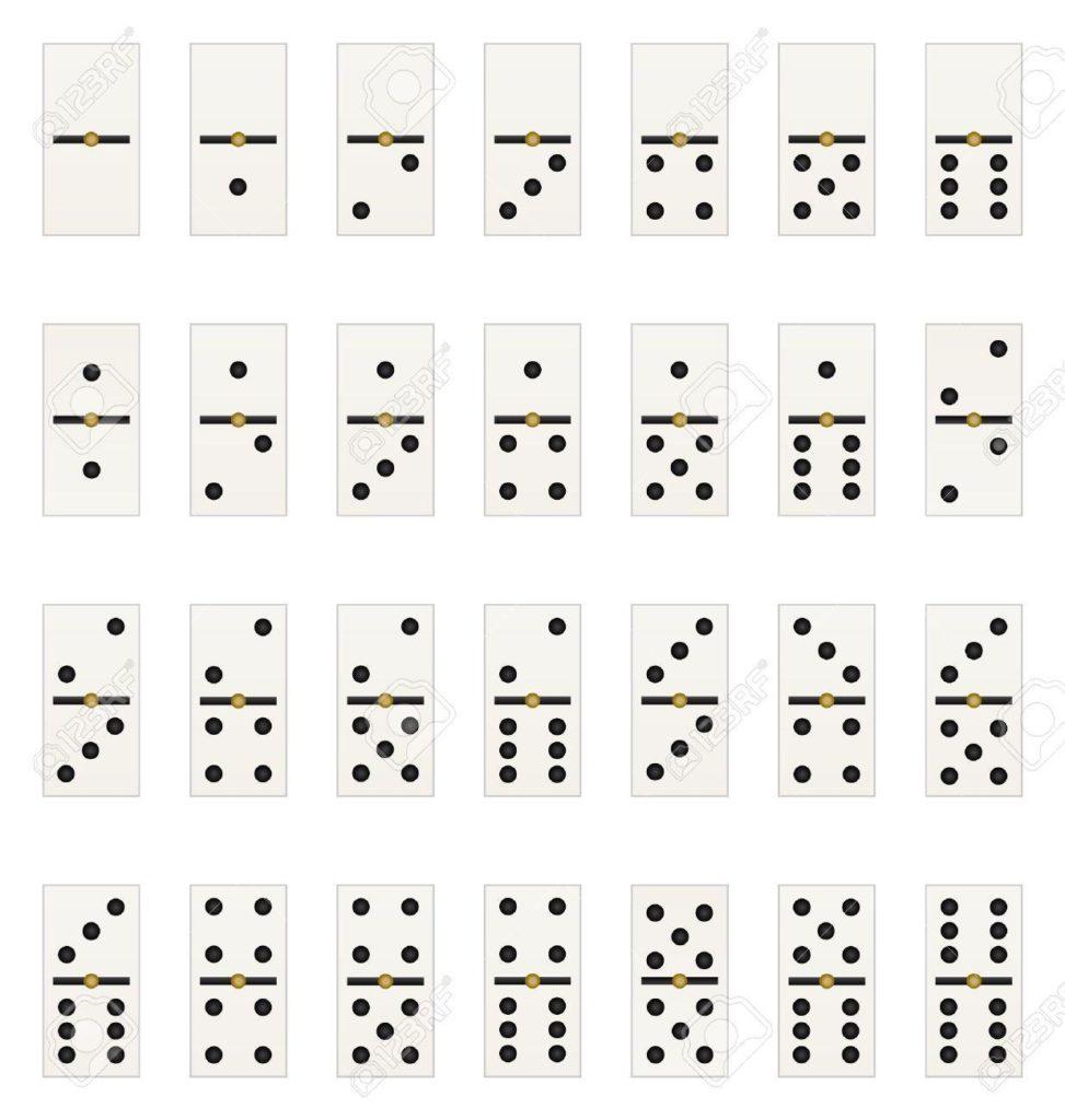 reglas del dominó: fichas